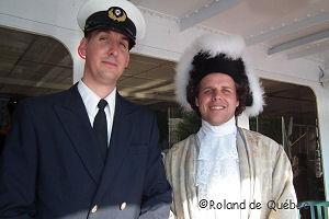 Le capitaine du bateau Daniel Boisvertet Louis Joliette