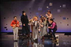 Une partie de la distribution de la pièce: La nuit des rois
