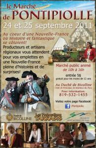 Marché de Pontipiolle, qui se tiendra les 24 et 25 septembre prochain sur les terres du duché, à Saint-Mathieu-du-Parc.