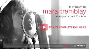 Le 5e album de Mara Tremblay. Capturer la magie