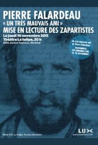 Mise en lecture des ZAPARTISTES Le jeudi 10 novembre 2011 Théâtre La tulipe, 20h