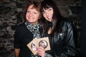 Annie Dufresne et moi à son lancement d'albums