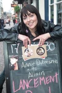 Annie Dufresne au Ninkasi pour ses albums
