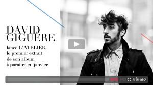 David Giguère lance L'Atelier, le premier extrait de son album à paraître en janvier