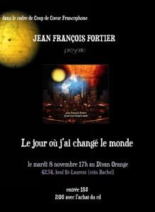 Le nouvel album de Jean François Fortier