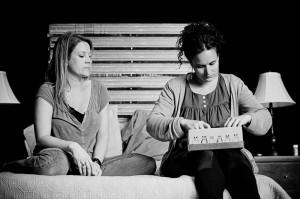 Les 2 soeurs Nathalie (Sophie Dion) et Anne-Sohie (véronique Côté)