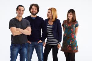 Daniel Thomas, Pierre-Luc Brillant, Kim Rusk et Anne-Élisabeth Bossé