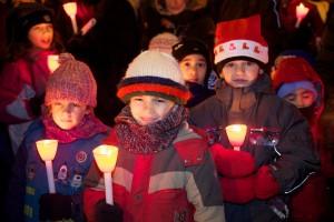 La Marche de Noël aux flambeaux,
