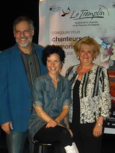 Jici Lauzon - Animateur Brigitte Boisjoli - Porte-parole France M. Lavoie- Présidente du conseil d'administration
