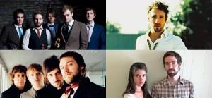 Charlie Winston - Kathleen Edwards - Punch Brothers - Veronica Falls- Bowerbirds - Kasabian