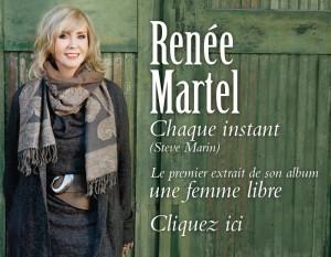 """Chaque instant - le premier extrait du nouvel album de Renée Martel """"Une femme libre"""""""