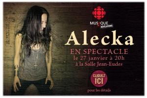 Alecka en spectacle le 27 janvier !