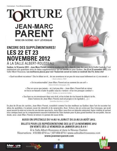 Les meilleurs billets pour Jean-Marc Parent en vente ce vendredi !
