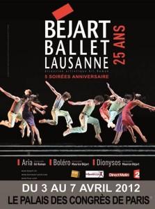 BEJART BALLET LAUSANNE  5 soirées Anniversaire du 3 au 07 avril 2012 au Palais des Congrès