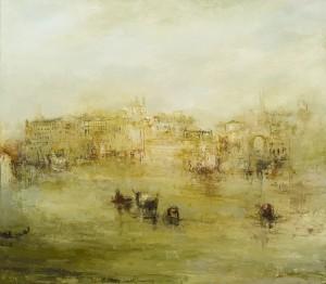 France Jodoin.  Échos, 2011, Huile sur toile
