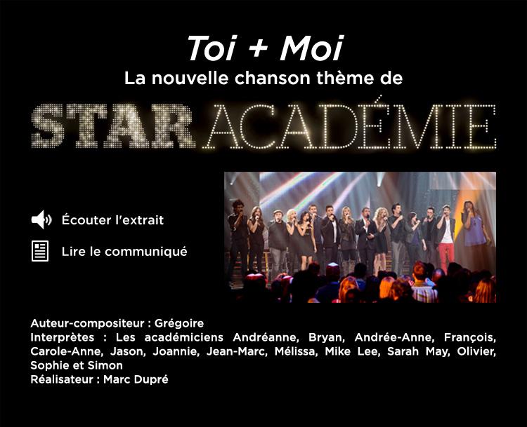 Star Académie / Toi + Moi (chansons thème)