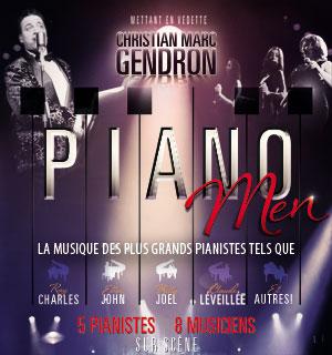 Piano Men le 29 février à la Salle Albert-Rousseau