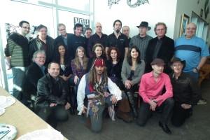 Les artistes lors du lancement de la programmation hiver-printent au Centre d'art La Chapelle