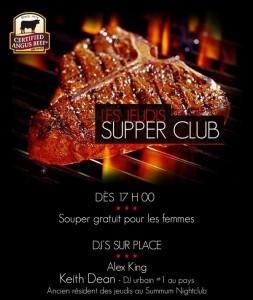 Lancement des soirées 'supper club' ce jeudi