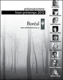 La rentrée 2012 des Éditions du Boréal