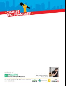 Concours CHANTE EN FRANÇAIS - Inscriptions