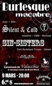 LANCEMENT du roman érotique VALACCHIA BURLESQUE MACABRE Vendredi 9 mars 2012, 20:00 aux Katacombes