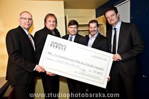 Un beau chèque remit pour la Fondation CSSS de la Vieille-Capitale