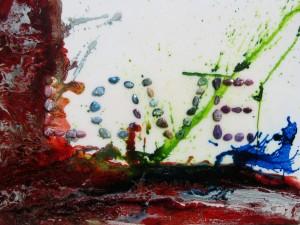 SECRET,  de VéronikaH, mixte sur toile, 36 x 48 pouces, 2011
