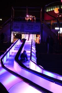 Glissade urbaine du festival Montréal en Lumière©Julie Cler