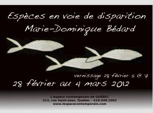 Espèces en voie d'inspiration Un solo de Marie-Dominique Bédard à L'espace contemporain