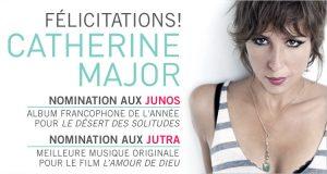 Catherine Major nominée aux Junos et aux Jutra !