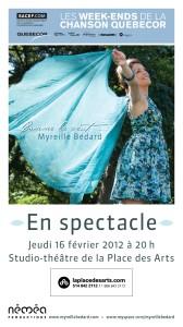L'auteure-compositrice et interprète Myreille Bédard