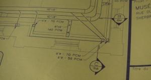David K. Ross. Plan de salle de ventilation (Drafting stills)