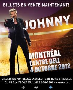 Johnny Hallyday sera au Centre Bell le 5 octobre!