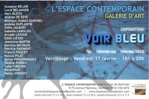 VOIR BLEU L'espace contemporain de Montréal expose 19 artistes sélectionnés sous la même thématique