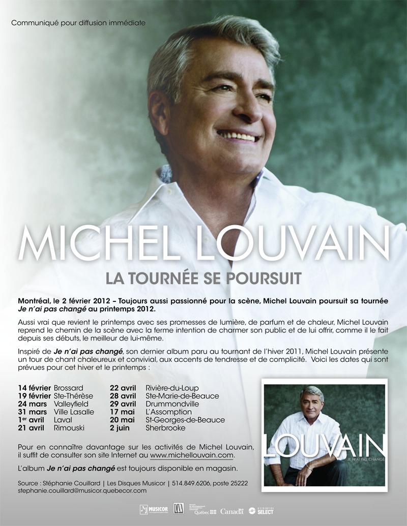 MICHEL LOUVAIN - La tournée JE N'AI PAS CHANGÉ se poursuit
