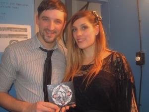 Olivier Beaulieu et Amélie Nault avec leur CD dans les mains