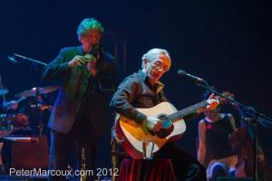Richard Desjardins et le flûtiste