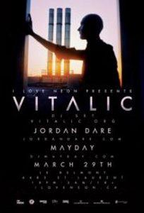 Affiche de la soirée du 29 mars Vitalic au Belmont de Montréal