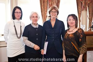 Marie Dooley, designer et présidente d'honneur de l'événement, Rose Dufour, fondatrice de la Maison de Marthe, Christiane Gagnon, présidente du Conseil d'administration de la Maison de Marthe, et Annick Simard de la Capitale, partenaire de l'événement.
