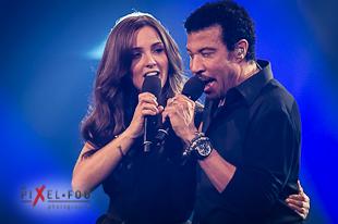 Lionel Richie en compagnie de Sophie