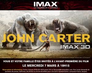 JOHN CARTER EN IMAX 3D