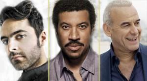Dumas, Lionel Richie et Michel Fugain