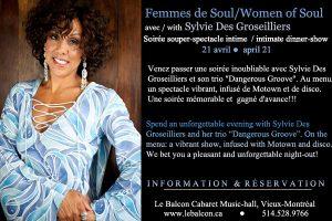 SYLVIE DES GROSEILLIERS - Women of Soul/Femmes de Soul