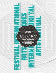 la 13e édition d'Elektra [festival international - arts numériques]