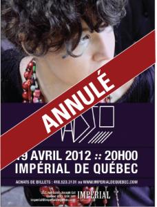 Annulation du spectacle de Madjo à l'Impérial de Québec
