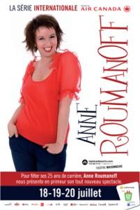 Anne Roumanoff au Festival Juste Pour Rire, 18, 19 et 20 juillet 2012