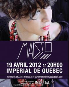 Le spectacle de Madjo à l'Impérial de Québec
