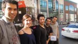 Groupe Audionaute et leur invitée Émilie René