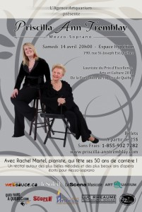 Le 14 avril 2012 à 20H00 à l'Espace Hypérion, Rachel Martel, pianiste, fête ses 50 ans de carrière .
